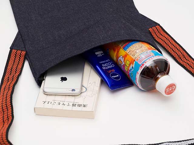 【MAIDOサコッシュ 藍染】12ozデニム 前掛け紐 ショルダーバッグ 日本製 No.1061【ネコポス可】