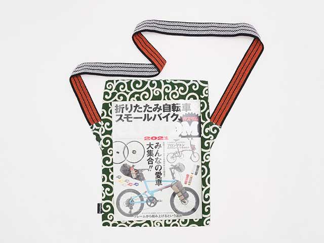 【MAIDOサコッシュ】柄物 前掛け紐 ショルダーバッグ 裏地付き 日本製 No.1062