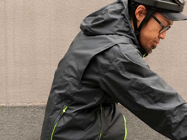 【バイクマンパーカー】2.5レイヤー 透湿防水 裏地付き フード付き バックポケット 日本製 No.2156【送料無料】