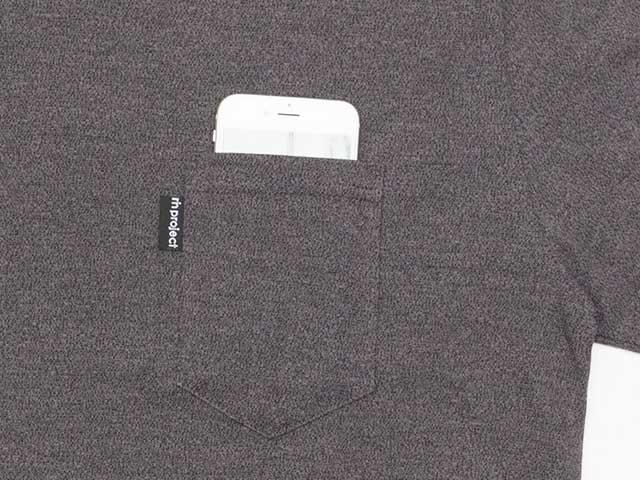 【和紙ドライロングT】長袖Tシャツ アンダーレイヤー 胸ポケット 和紙素材 吸汗速乾 日本製 No.2159