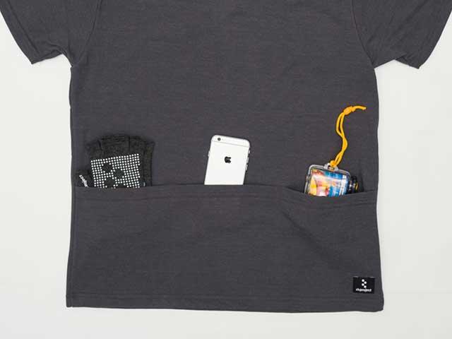 【ミリタリー4ポケットT】Tシャツ ポケT 胸ポケット 背ポケット 綿 ポリエステル 吸汗速乾 日本製 No.2166