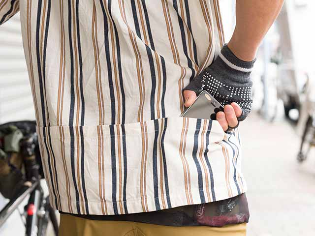 【クルーズシャツ】半袖 プルオーバー 綿x麻 吸汗速乾 背ポケット 日本製 No.2168【送料無料】