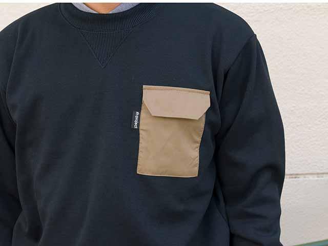 【4ポケットトレーナー】スウェットシャツ 背ポケット 吸汗速乾素材 定番アメカジ 日本製 No.2174