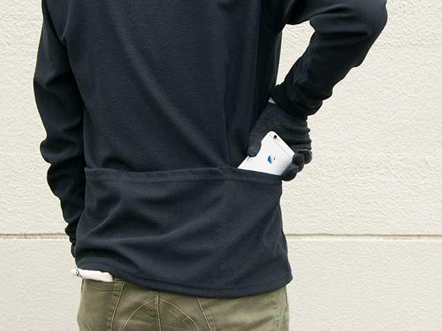 【GAシャツ】長袖Tシャツ 背ポケット ショルダーパッチ 吸汗速乾 日本製 No.2175