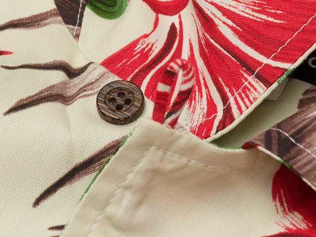 【サイクリストアロハ リーフ】綿・レーヨン 開襟 アロハシャツ 背ポケット 日本製 No.2183