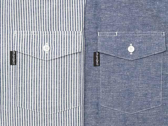 【バイカーズリネンシャツ】綿麻素材 ワークシャツ バックポケット ボタンダウンカラー 半袖 日本製 No.2184