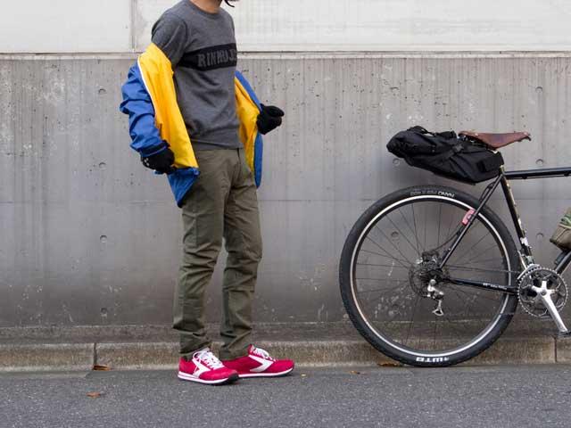 【ストレッチサイクルロングパンツ】サイクリング チノパン ロング丈 裾止め サドルパッチ No.3001 【送料無料】