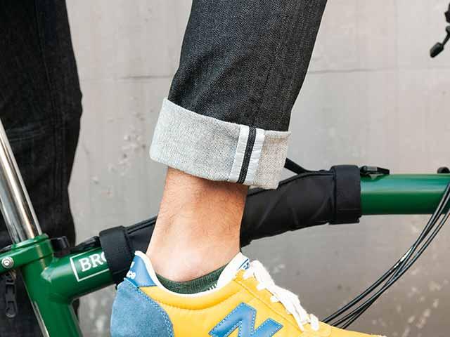 【サイクルデニム 10周年記念モデル】ストレッチ 12oz ジーパン リフレクター スマホポケット サドルパッチ【送料無料】