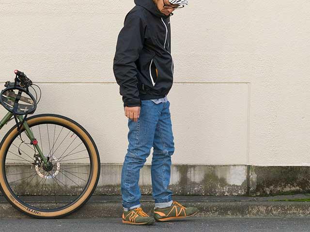 【サイクルブルーデニム】動きやすい 12ozストレッチデニム ブリーチ加工 岡山県井原市生産 自転車対応 No.3180 送料無料