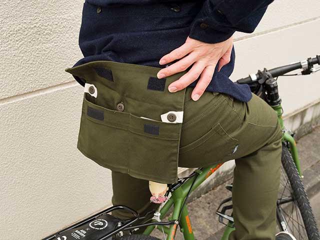【バイカーズパンツプラス】 着脱式ヒップポケット 膝当て サドルパッチ ストレッチ 高密度ドリル素材 日本製 No.3181