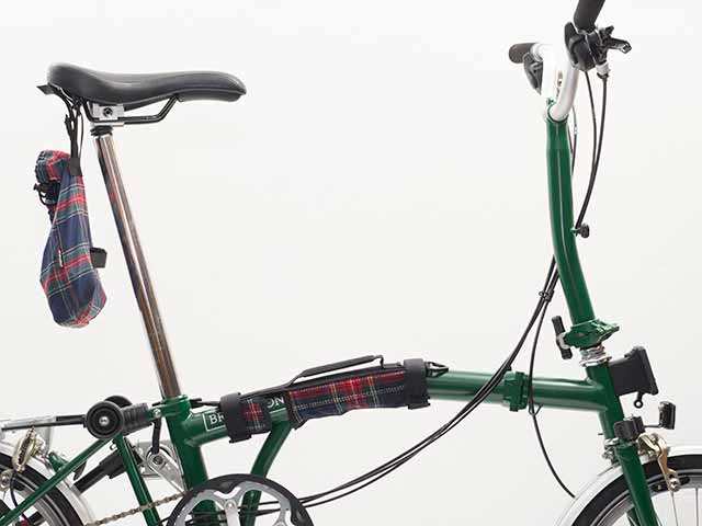 【BPキャリーハンドル ツイード】ブロンaプトン用 持ち手 トップチューブカバー ショルダーベルト付 傷付き防止 No.5090