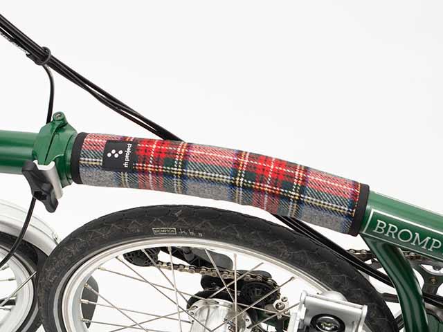 【ショートフレームパッド ツイード】ウール トップチューブカバー 傷付き防止 ドレスアップ ブロンプトン クロスバイク No.5093
