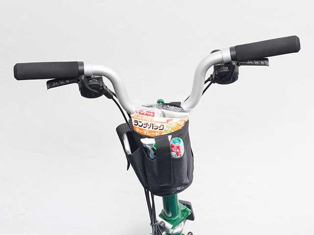 【マルチボトルホルダー】ハンドル固定 スマホポケット付き 500mlペットボトル対応 ベルクロ着脱 No.5095 日本製