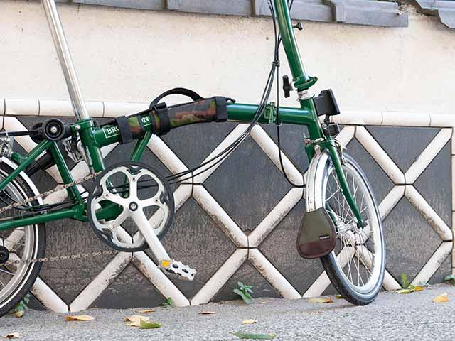 【マッドフラップ】ブロンプトン専用 フロントフェンダー用 帆布 本革 泥よけ 日本製 No.5099