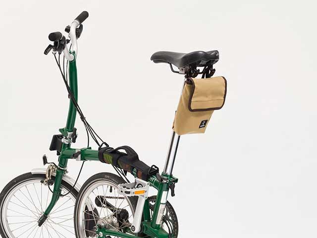 【ミニベロポーチ】 小径車用 高強度 コットン調ナイロン ブロンプトンやBD-1など サドルバッグ ハンドルバッグ No.5103