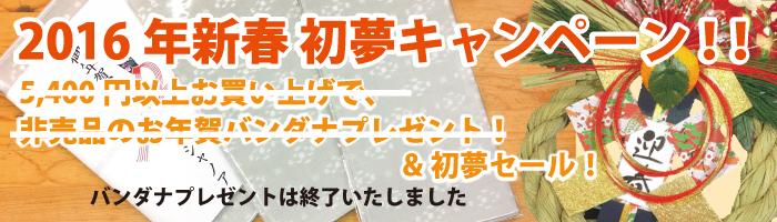初夢キャンペーン 2016